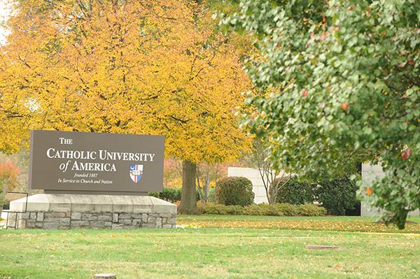 Image of Catholic University sign